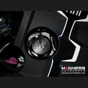 FIAT 124 Oil Cap - Black Anodized Billet w/ Scorpion Logo