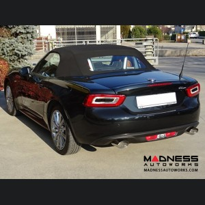 FIAT 124 Spider Performance Exhaust - Ragazzon - Evo Line - Resonated Dual Tip - Oval Tips