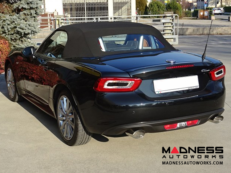 Fiat 124 Spider Performance Exhaust By Ragazzon Evo Line Resonated Dual Tip Oval