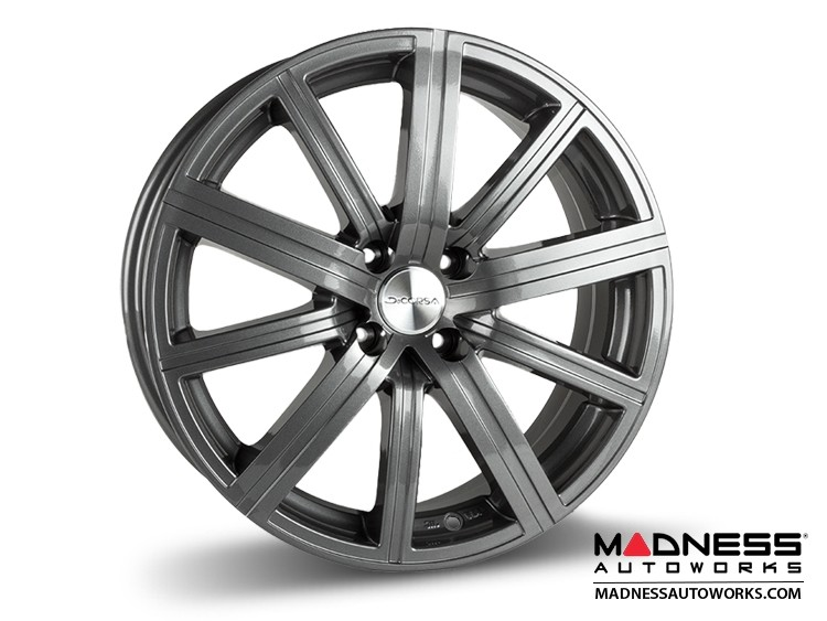 "FIAT 124 Spider Custom Wheels - Illusion - Custom Gloss Gunmetal Finish - 17"""