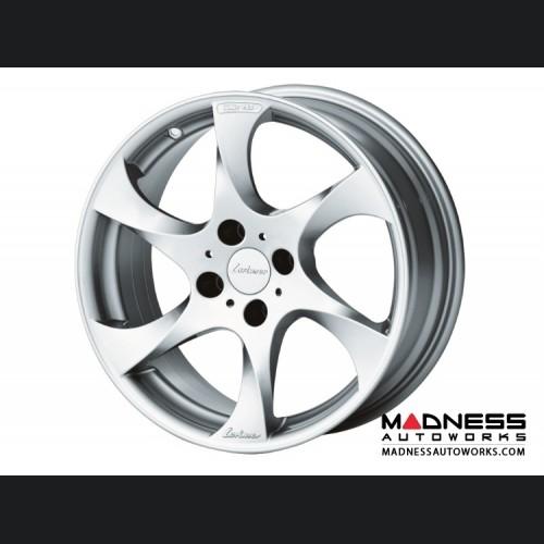 "FIAT 124 Spider Custom Wheels by Lorinser - 7.5x17"" - Silver Finish"