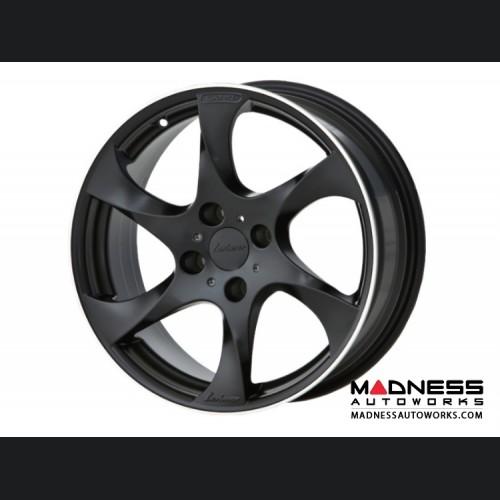 "FIAT 124 Spider Custom Wheels by Lorinser - 7.5x17"" - Black Satin Finish"