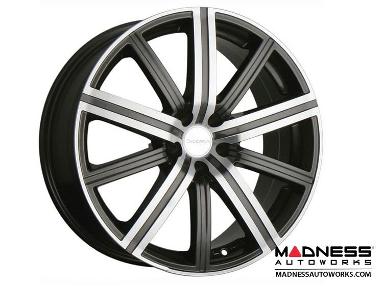 "FIAT 124 Spider Custom Wheels - Illusion - Gunmetal w/ Machined Face - 17"""