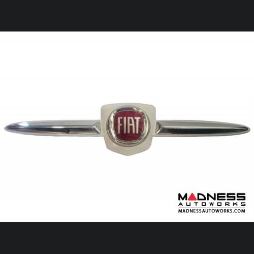 FIAT 500T Grill Badge - White - Genuine FIAT