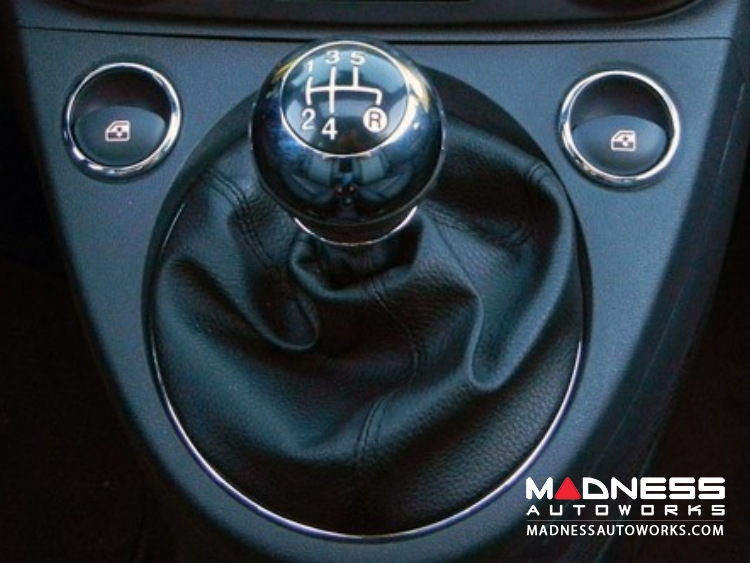 Fiat 500 Gear Shift Knob Chrome W Black Base Genuine