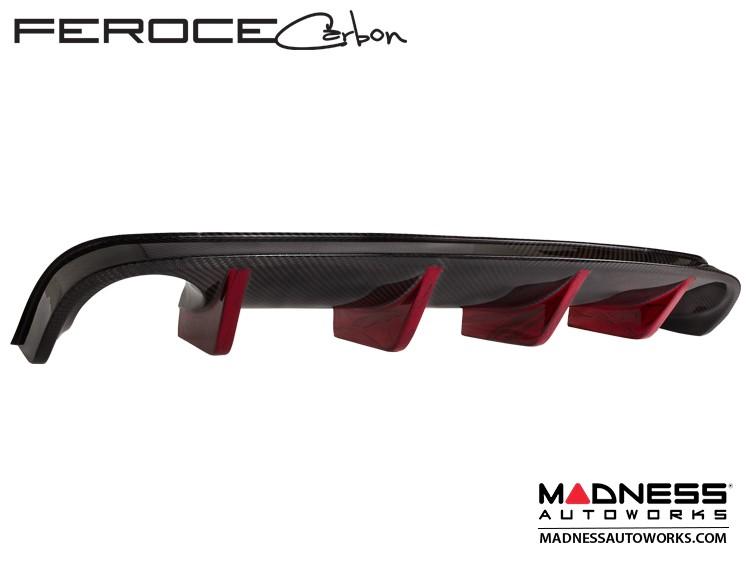 FIAT 500 Rear Diffuser in Carbon Fiber by Feroce - Estremo Aerography - Red