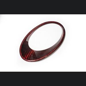 FIAT 500 Driving Lights Frames - Carbon Fiber - NA Model - Red Candy