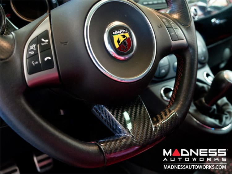 FIAT 500 ABARTH Steering Wheel Lower Trim Piece by Feroce - Carbon