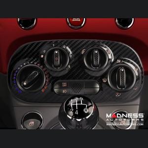 FIAT 500 Temperature Control Panel - Carbon Fiber - Manual Controls
