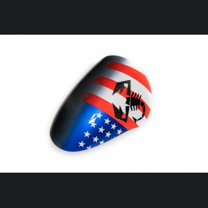 FIAT 500 Instrument Cover - Carbon Fiber - American Flag w/ Black Scorpion