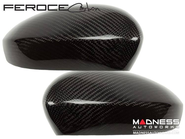 FIAT 500 Mirror Cover Caps in Carbon Fiber - Estremo