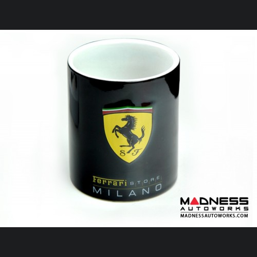 Ferrari Coffee Cup / Mug - Black w/ Ferrari Store Logo