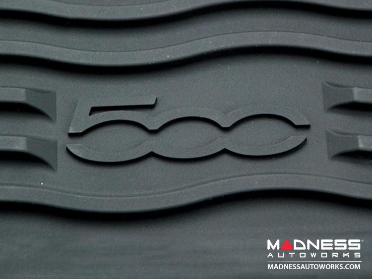 Fiat 500 Floor Mats Set Of 2 All Weather Mopar
