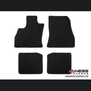 FIAT 500L Floor Mats - Premium Carpet - LUXUS Premium - Front + Rear Set - Black