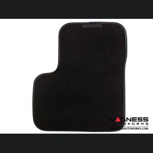 FIAT 500X Floor Mats - Premium Carpet - MADNESS - Front + Rear Set - w/ MADNESS Logo