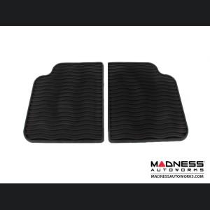 FIAT 500 Floor Mats - All Weather Rubber - Mopar - Front + Rear Set