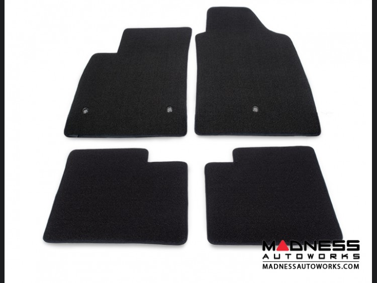 FIAT 500 Floor Mats - Tight Loop Carpet - Lloyd - Front + Rear Set - Black