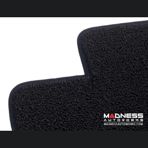 FIAT 500 Floor Mats - Tight Loop Carpet - Lloyd - Front + Rear Set - Black
