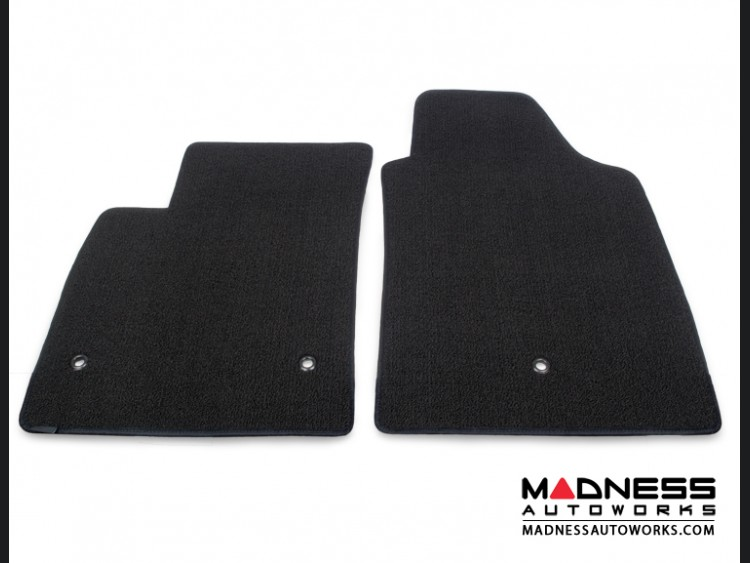 FIAT 500 Floor Mats - Tight Loop/ Berber Design - Lloyd - Front Set - Black
