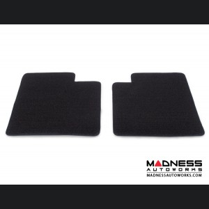 FIAT 500 Floor Mats - Plush Carpet - Lloyd - Front + Rear Set - Black