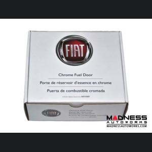 FIAT 500 Fuel Door - Chrome w/ 500 Logo - Genuine FIAT