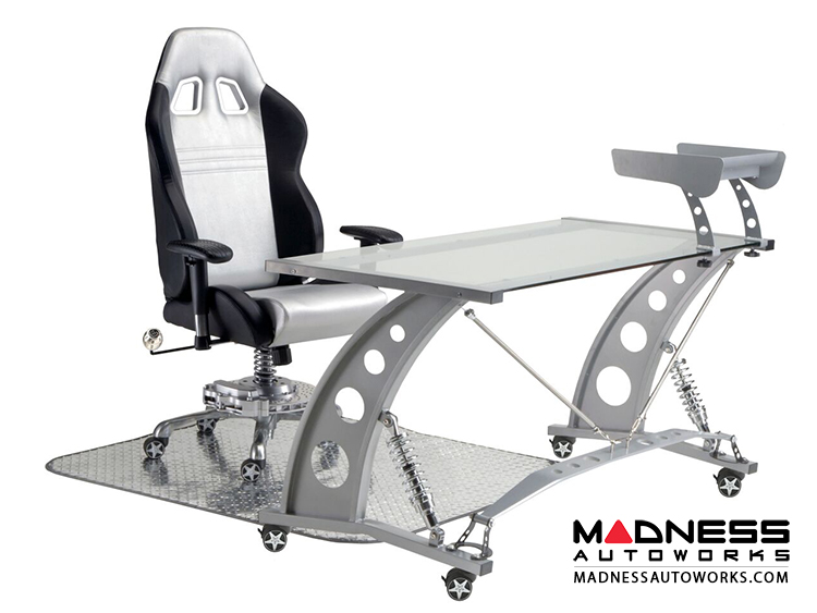 ... Race Car Style Office Chair   Monza   Silver