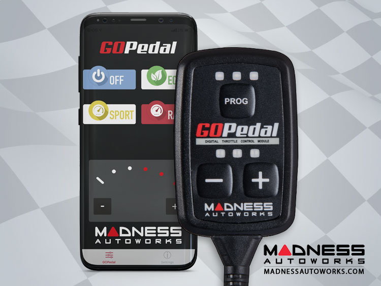 FIAT 500 Throttle Controller - MADNESS GOPedal - Bluetooth - 1.4L Multi Air Engine - Turbo