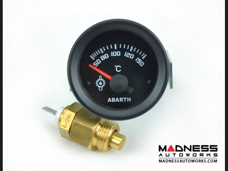 ABARTH Oil Temperature Gauge - Silver Bezel