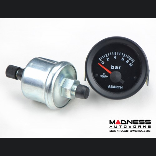 ABARTH Analog Oil Pressure Gauge - Silver Bezel