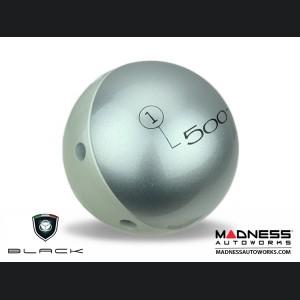 FIAT 500 Gear Shift Knob by BLACK - Silver Top w/ White Base