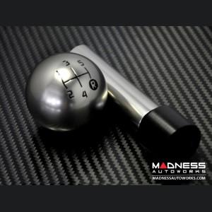 FIAT 500 Gear Shift Knob - Genuine ABARTH  Pomello  - Satin Aluminum Finish