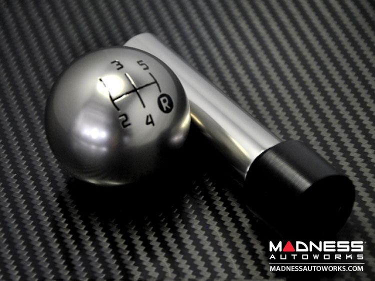 FIAT 500 Gear Shift Knob - Genuine ABARTH  Pomello  - Satin Aluminum Finish