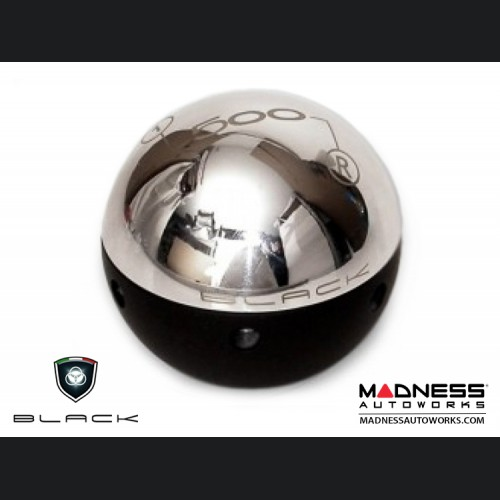 FIAT 500 Gear Shift Knob by BLACK - Chrome Top w/ Black Base