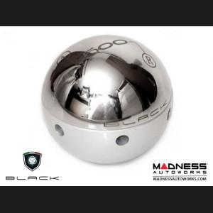 FIAT 500 Gear Shift Knob by BLACK - Chrome Top w/ White Base