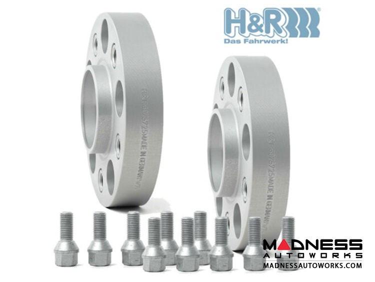 FIAT 500 Wheel Spacers by H&R - Trak+ DRM - 25mm (set of 2)
