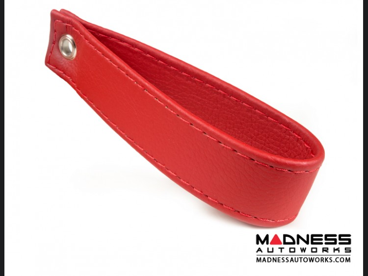 FIAT 500 Trunk Handle / Pull Strap - Red w/ Red Stitch