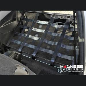 FIAT 500 Rear Harness Bar w/ Net - Black Bar w/ Red Net