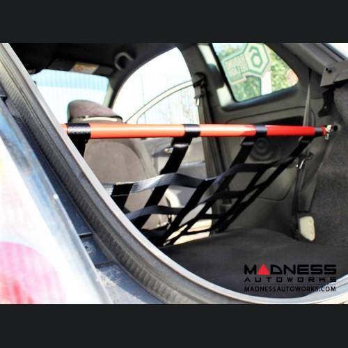 FIAT 500 Rear Harness Bar w/ Net - Black Bar w/ Black Net