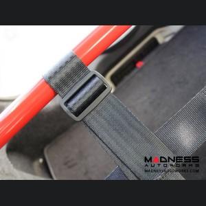 FIAT 500 Rear Harness Bar w/ Net - Red Bar w/ Red Net