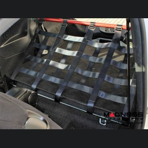 FIAT 500 Rear Harness Bar w/ Net - Red Bar w/ Black Net