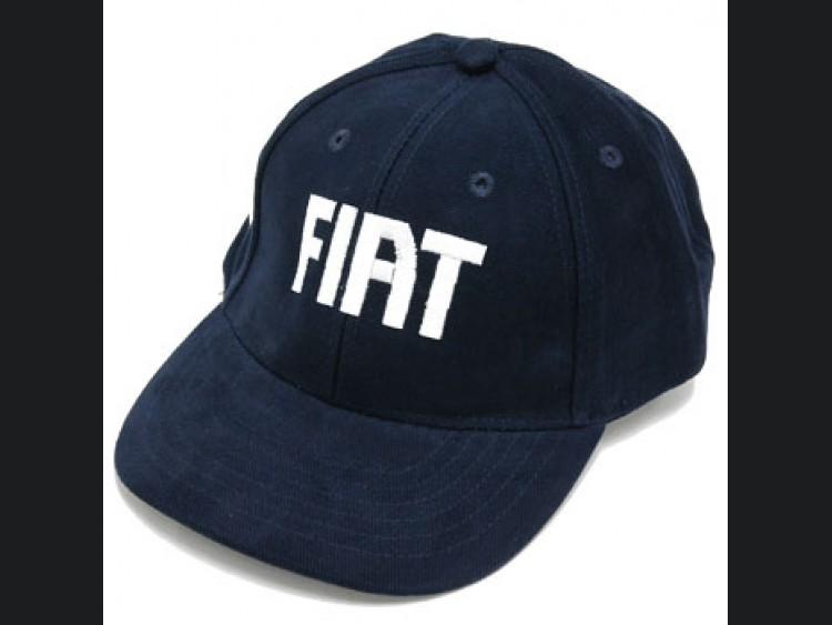 FIAT Cap - Blue Hat w/ FIAT Logo & Italian Flag