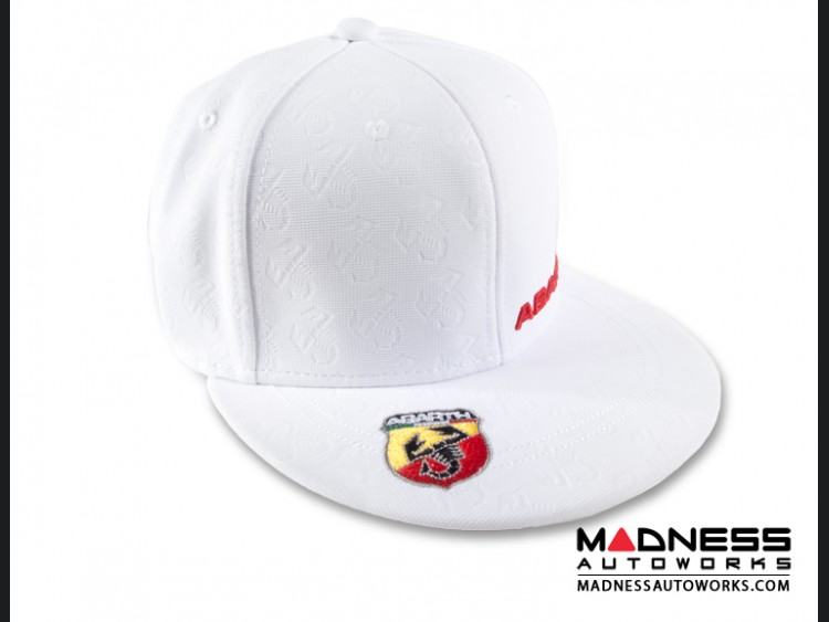 ABARTH Cap - Flat Visor Hat - White