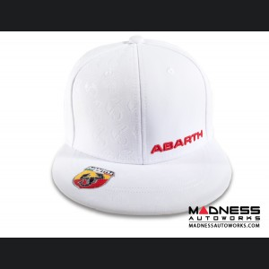 Cap - ABARTH - Flat Visor - White