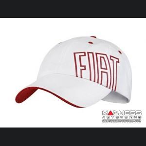 FIAT Cap - White w/ Red FIAT