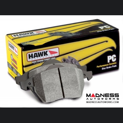 FIAT 500 (Non-Turbo Models) Brake Pads - Ceramic - Hawk - Front