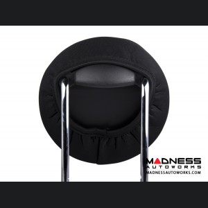 FIAT 500 Headrest Covers - Grey w/ 500 Logos - Front Set