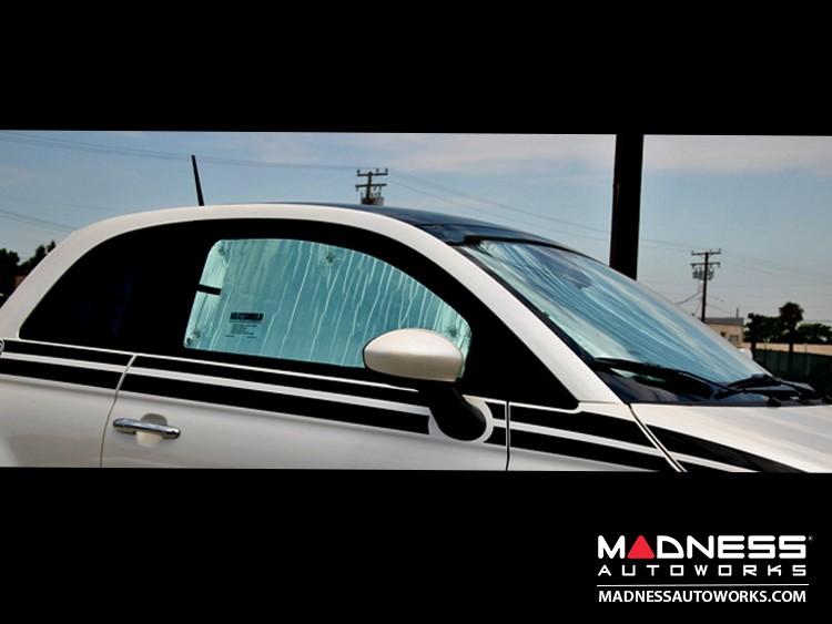 FIAT 500 Sun Shade/ Reflector Set (Coupe) - Windshield, Side Windows, Rear Windows