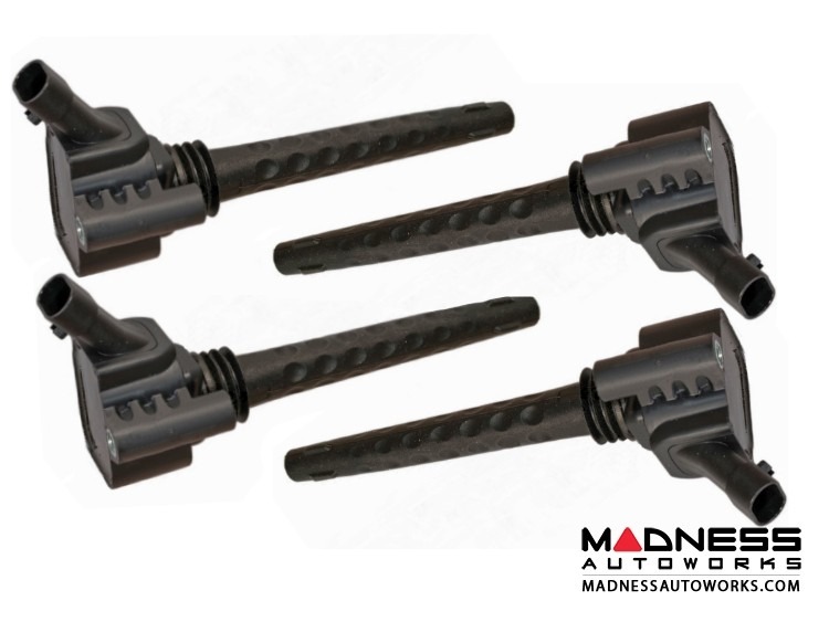 FIAT 500X Ignition Coil Pack Set - Alfa Romeo 4C Coils by Bosch - 1.4L Multi Air Turbo
