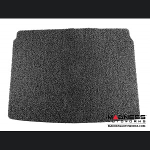 FIAT 500X All Weather Cargo Mat - Custom Rubber Woven Carpet - Black and Grey