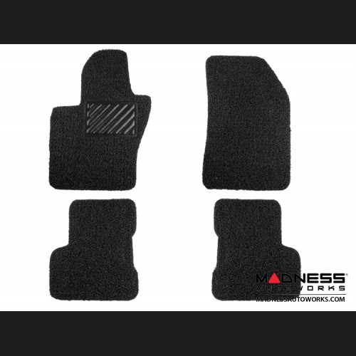 FIAT 500X Floor Mats - All Weather Rubber - Coiled PVC - Front + Rear Set - Black